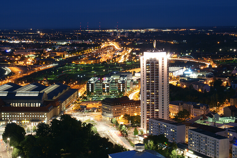 Here you can see a picture of the city of Leipzig, where INTERLINE offers exclusive limousine and chauffeur service.