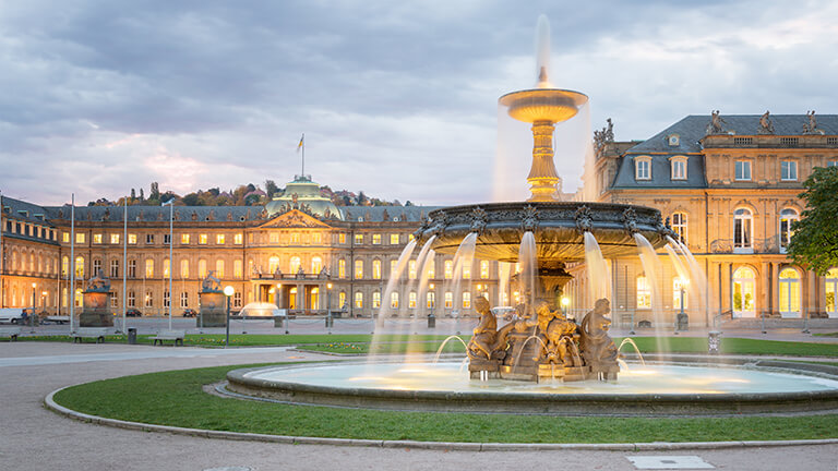 Here you can see a picture of the city of Stuttgart, where INTERLINE offers exclusive limousine and chauffeur service.